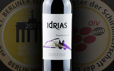 Idrias Tempranillo, gold in Berliner Wein Trophy